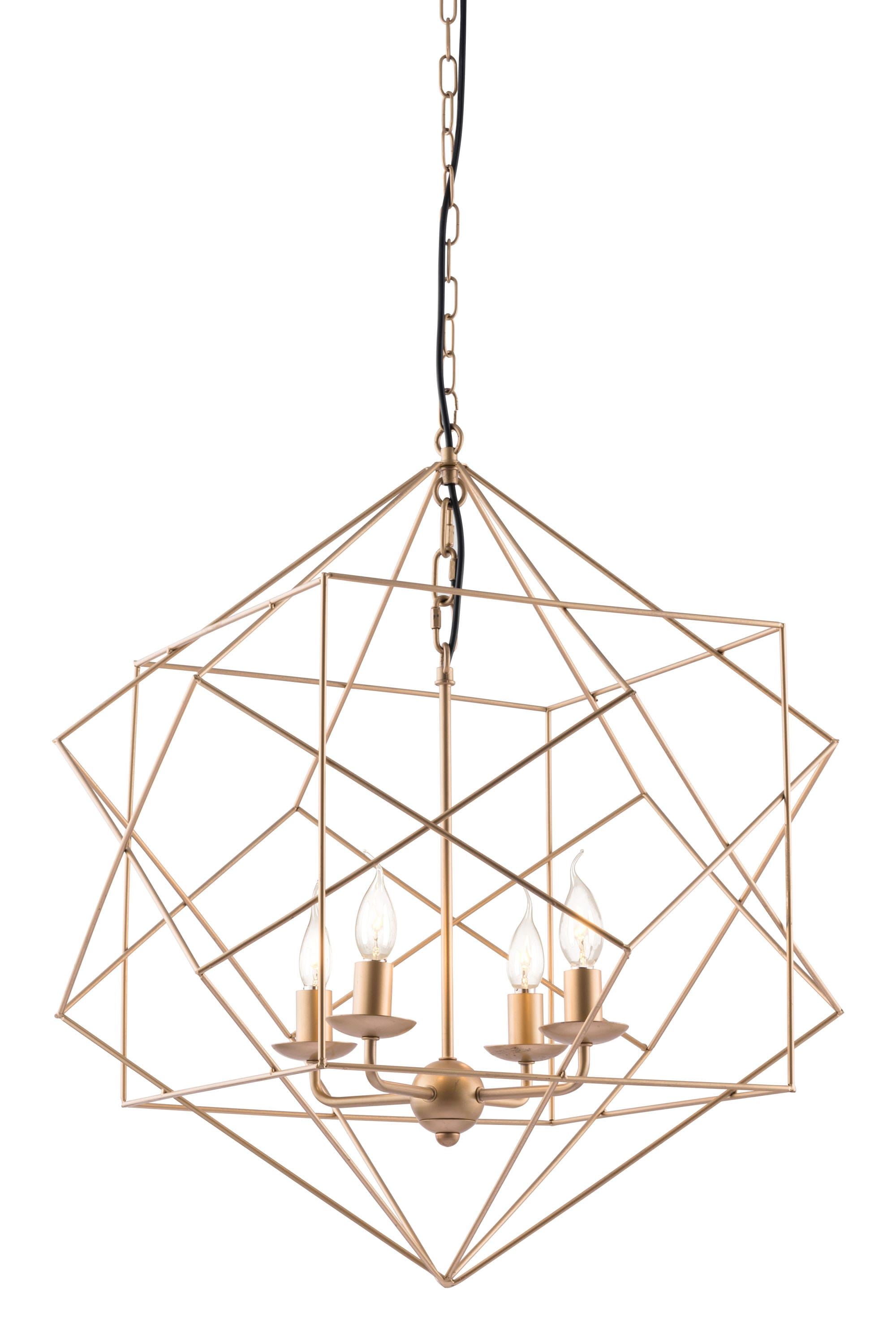 how to put an accent over a letter penta ceiling lamp gold by zuo modern 22345
