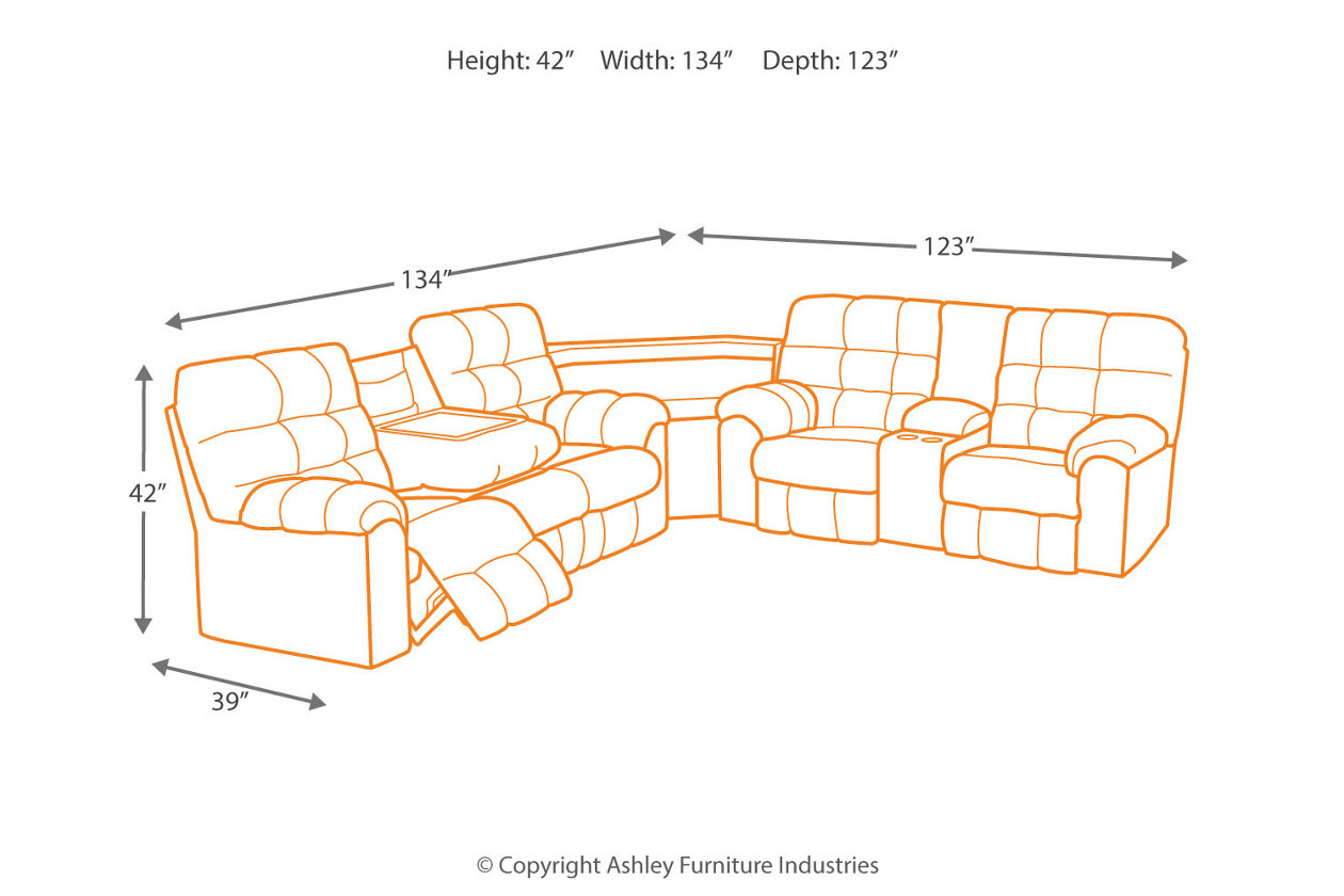 Acieona Slate Reclining Sofa With Drop Down Table By Ashley Furniture