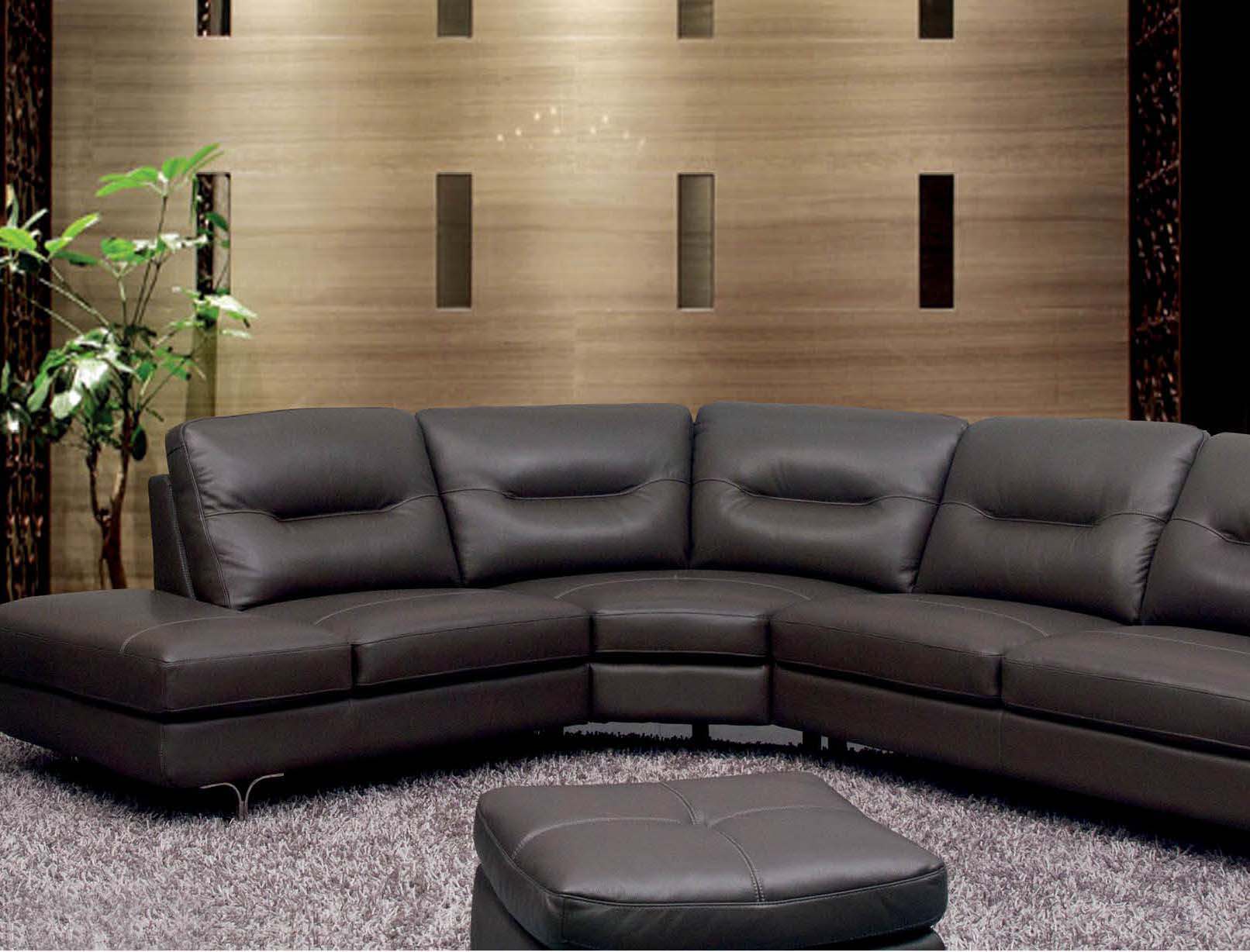 6001 Leather Sectional Sofa Set by ESF