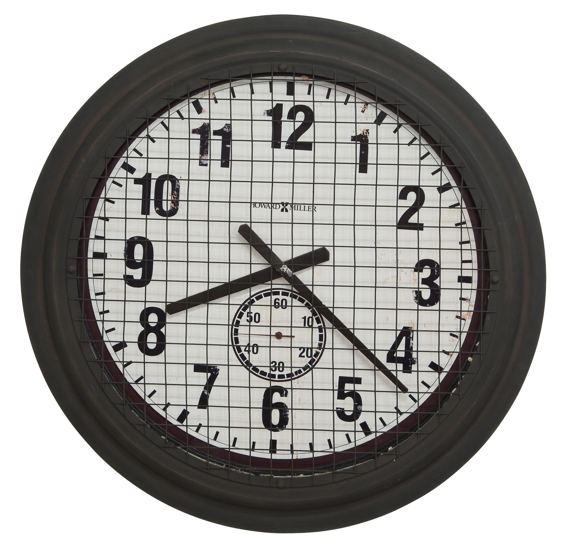 625 625 Grid Iron Works Wall Clock By Howard Miller