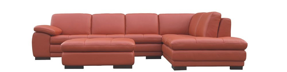 625 Premium Italian Leather Sectional by J&M Furniture