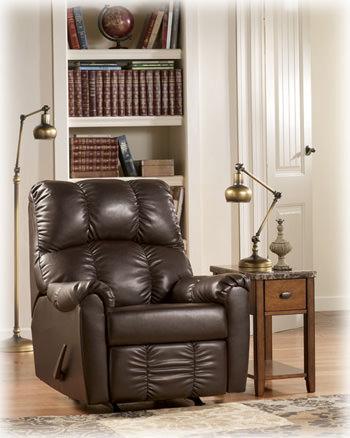 Rutledge java recliner signature design by ashley furniture for Hom furniture near me