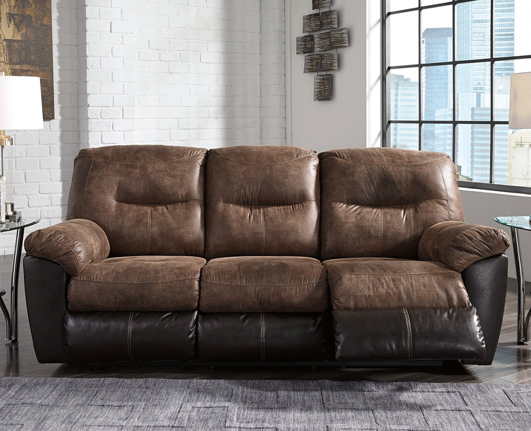 & Follett Brown Reclining Sofa by Ashley Furniture islam-shia.org
