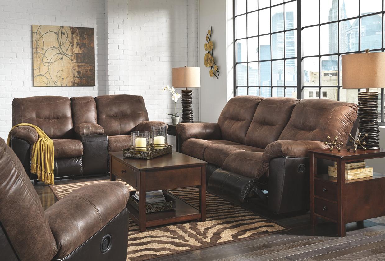 & Follett Brown Reclining Sofa by Ashley Furniture islam-shia.org