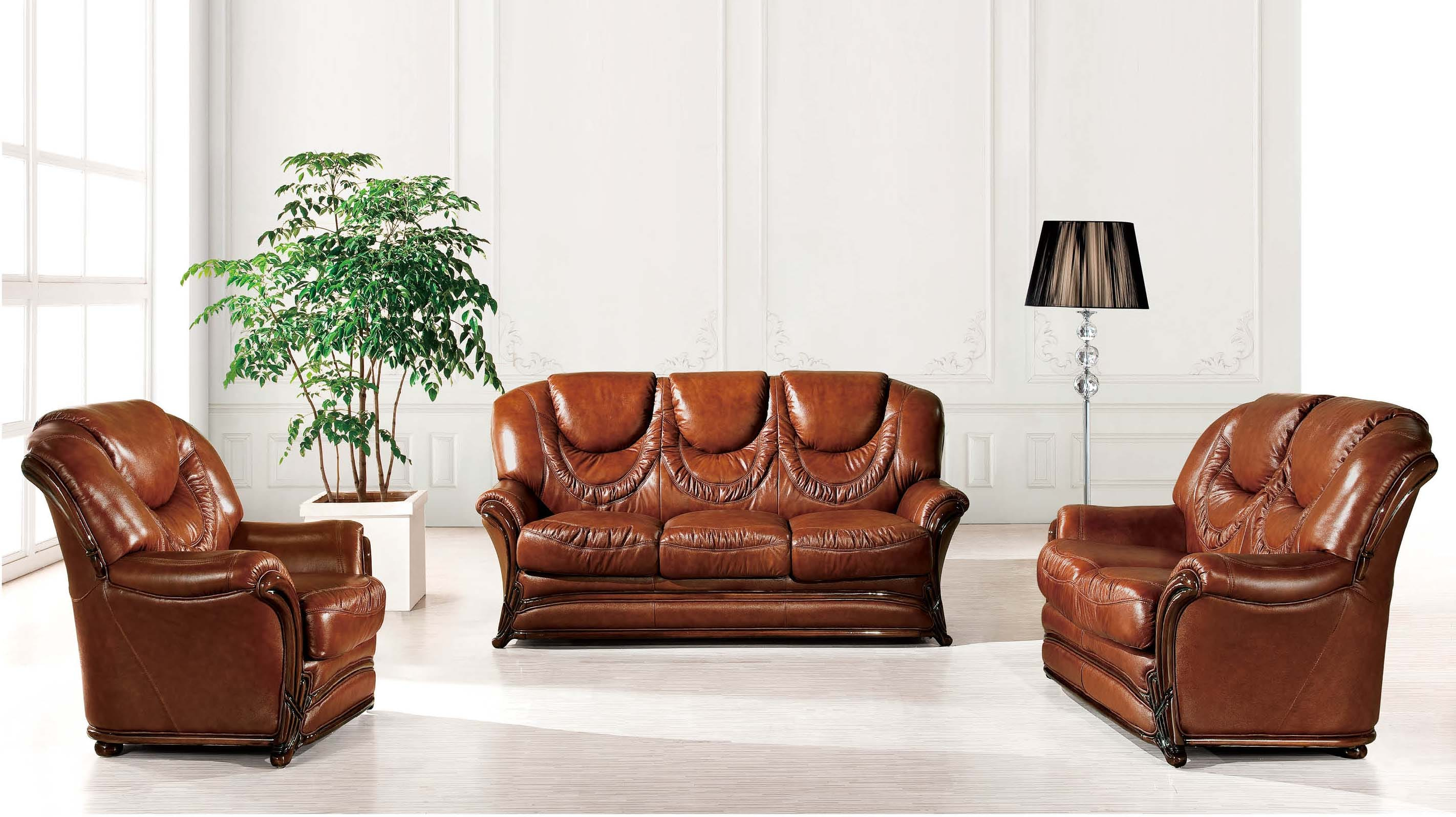 67 Leather & Split Sofa Bed by ESF