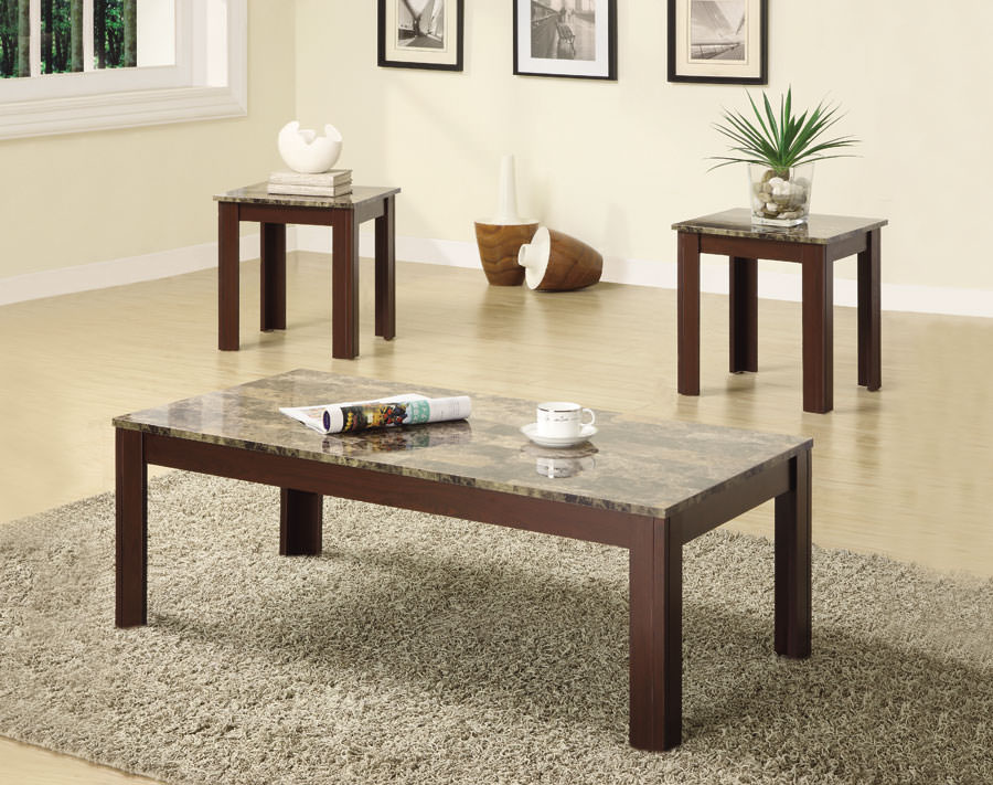 Superb 700395 3Pcs Brown Occasional Table Set By Coaster Alphanode Cool Chair Designs And Ideas Alphanodeonline