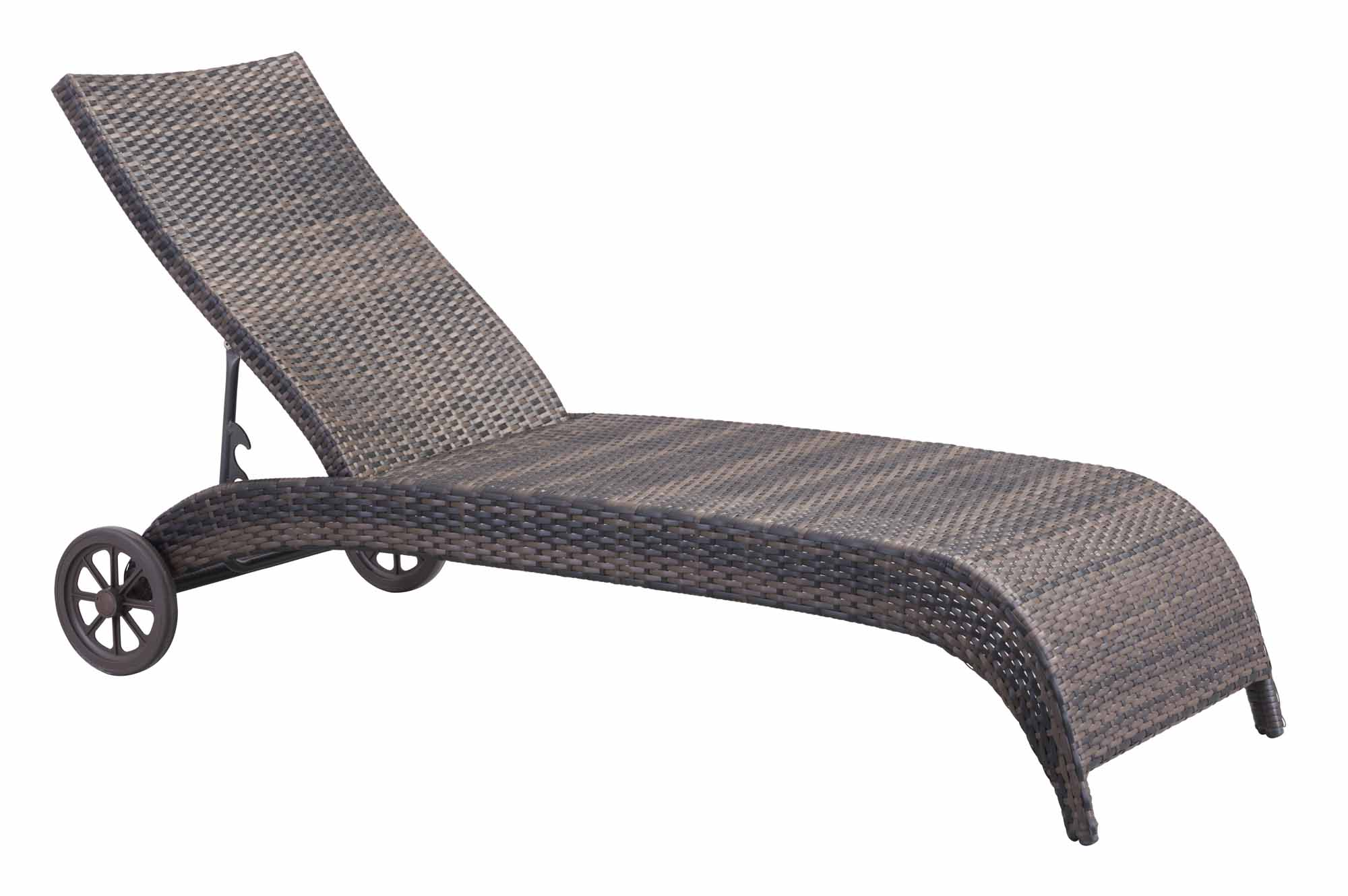Lido chaise lounge brown by zuo modern for Brown chaise lounge
