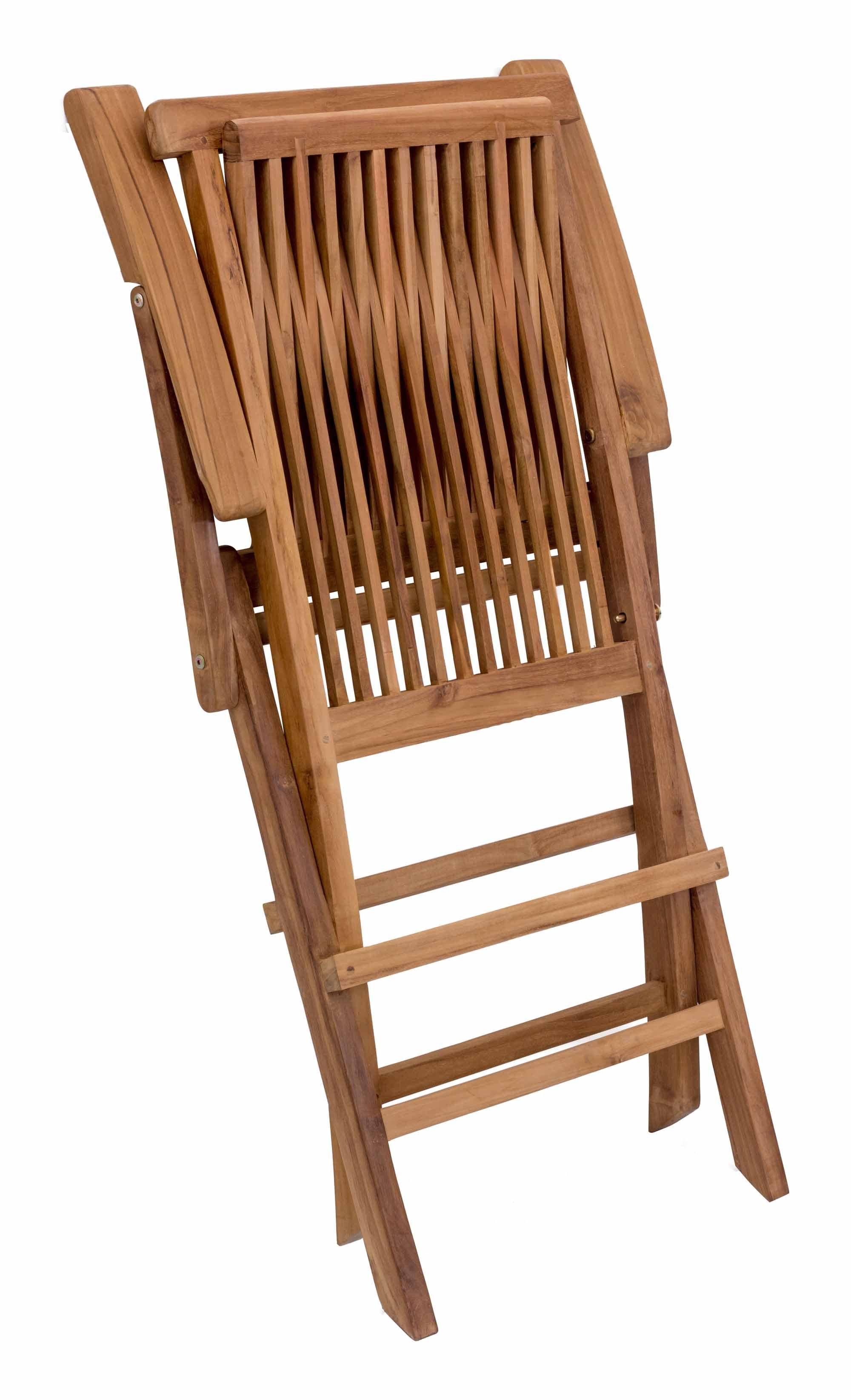 Regatta Folding Arm Chair Natural Set of 2 by Zuo Modern
