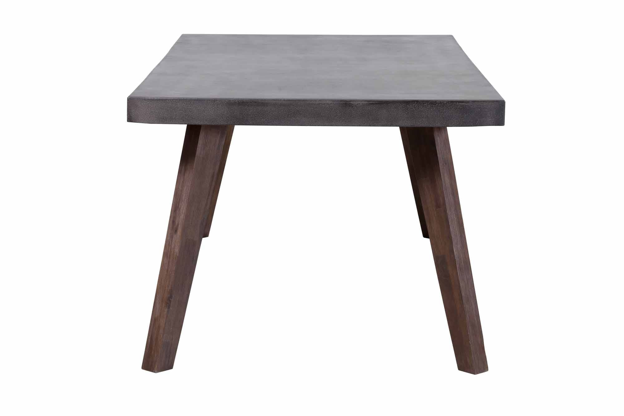Son Dining Table Cement & Natural by Zuo Modern