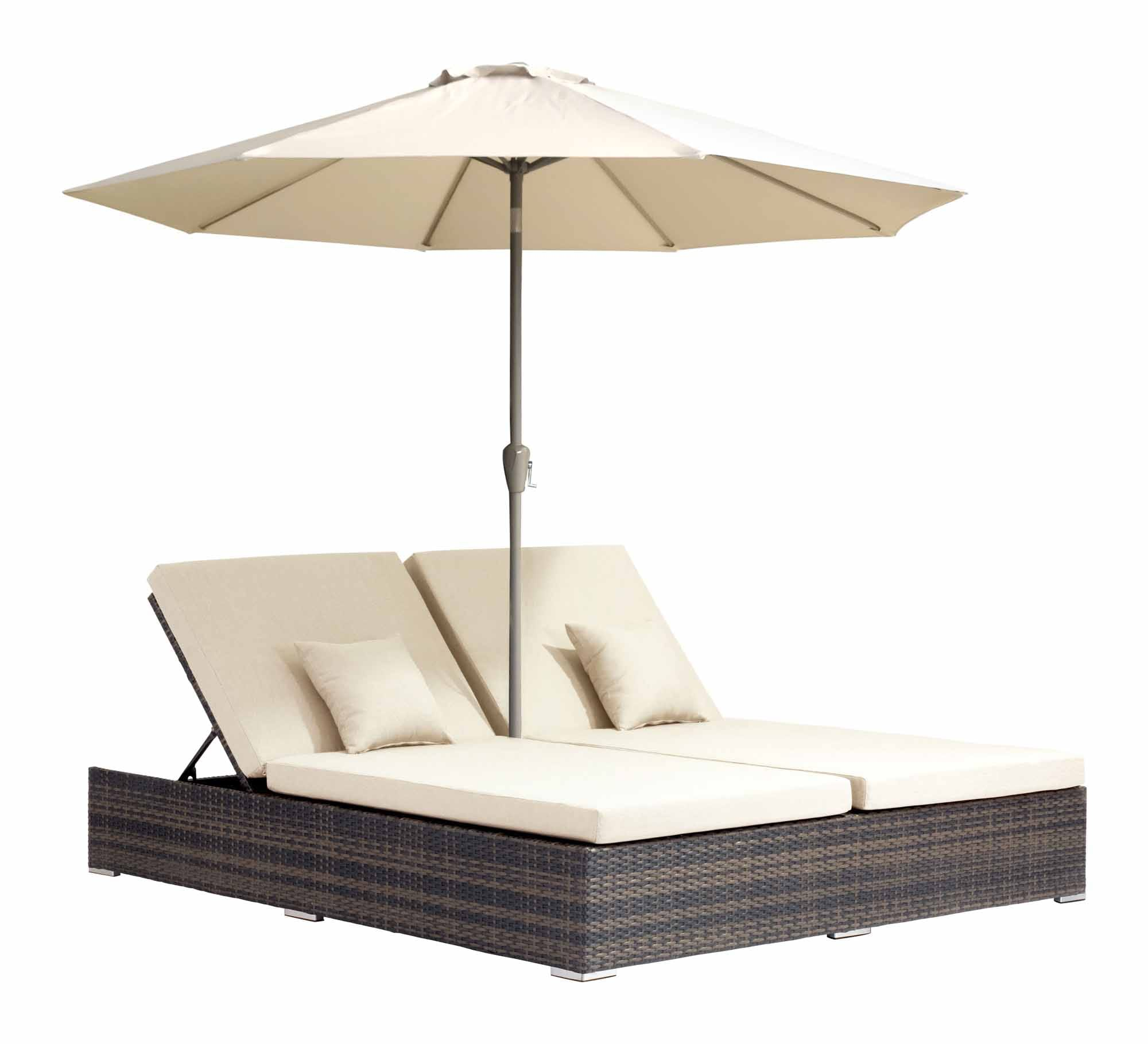 Atlantic Double Chaise Lounge Brown by Zuo Modern