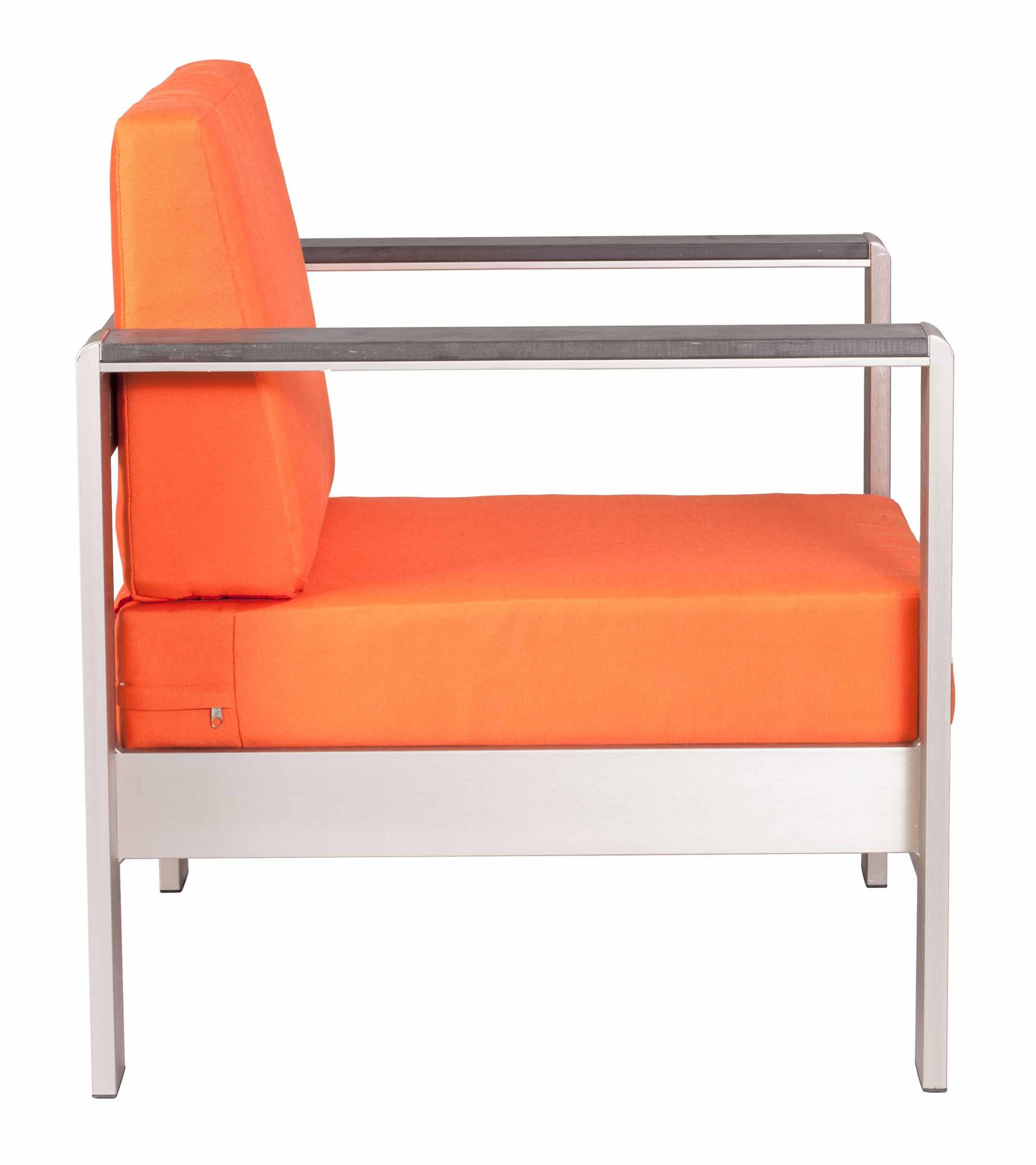 Cosmopolitan Arm Chair Cushion Orange By Zuo Modern