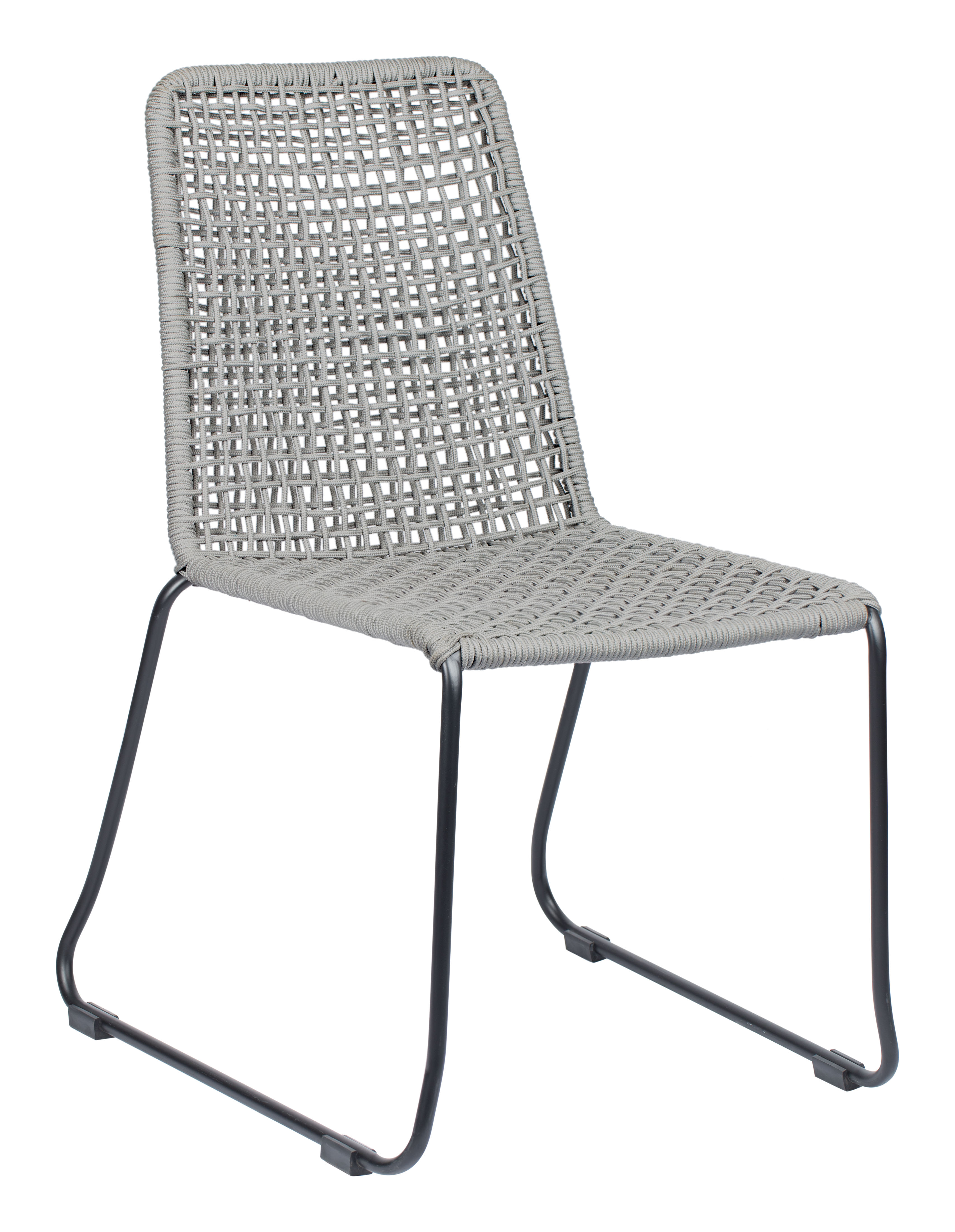 Carlo Dining Chair Black Dark Gray Set Of 2 By Zuo Modern