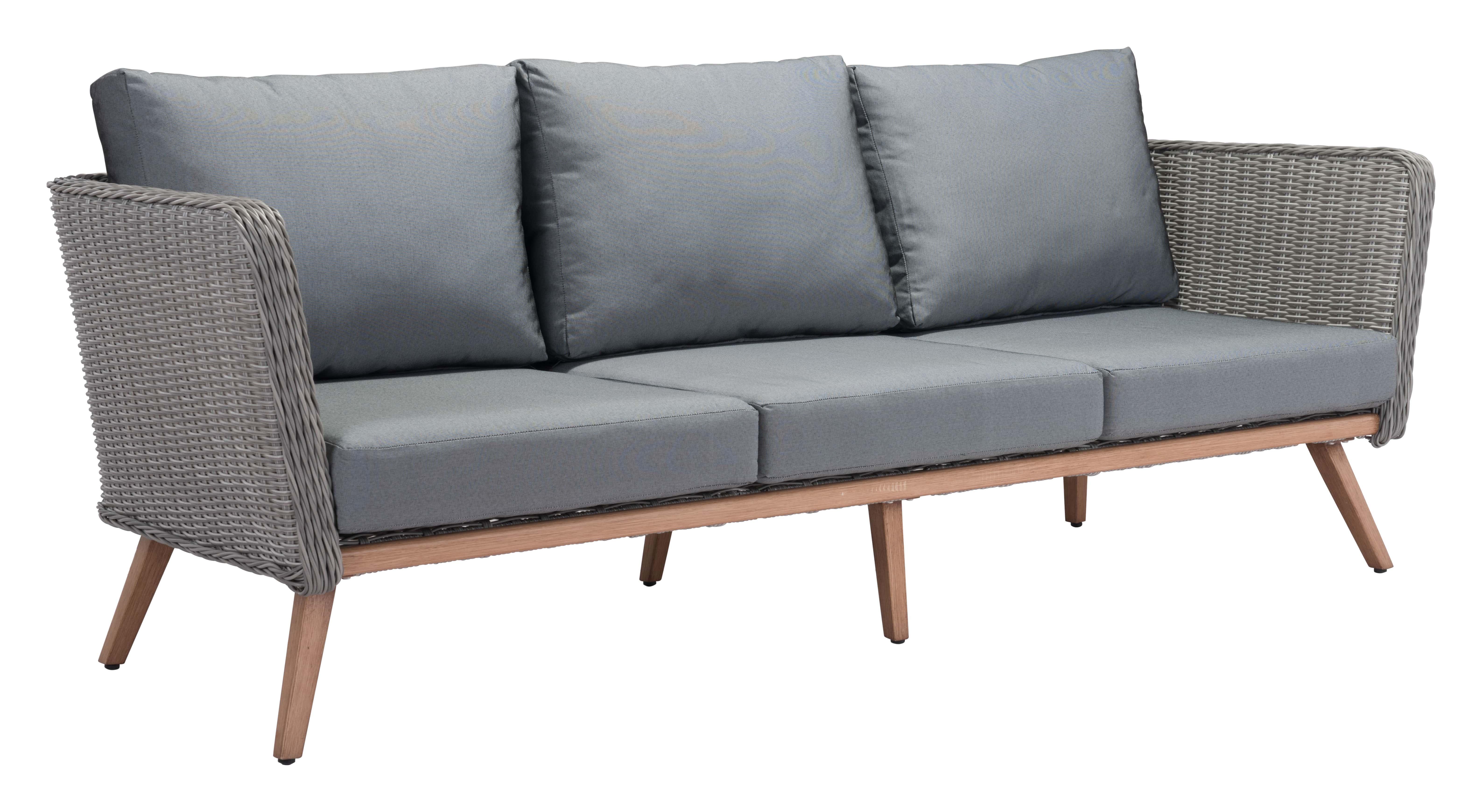 Pleasant Monaco Sofa Natural Gray By Zuo Modern Dailytribune Chair Design For Home Dailytribuneorg
