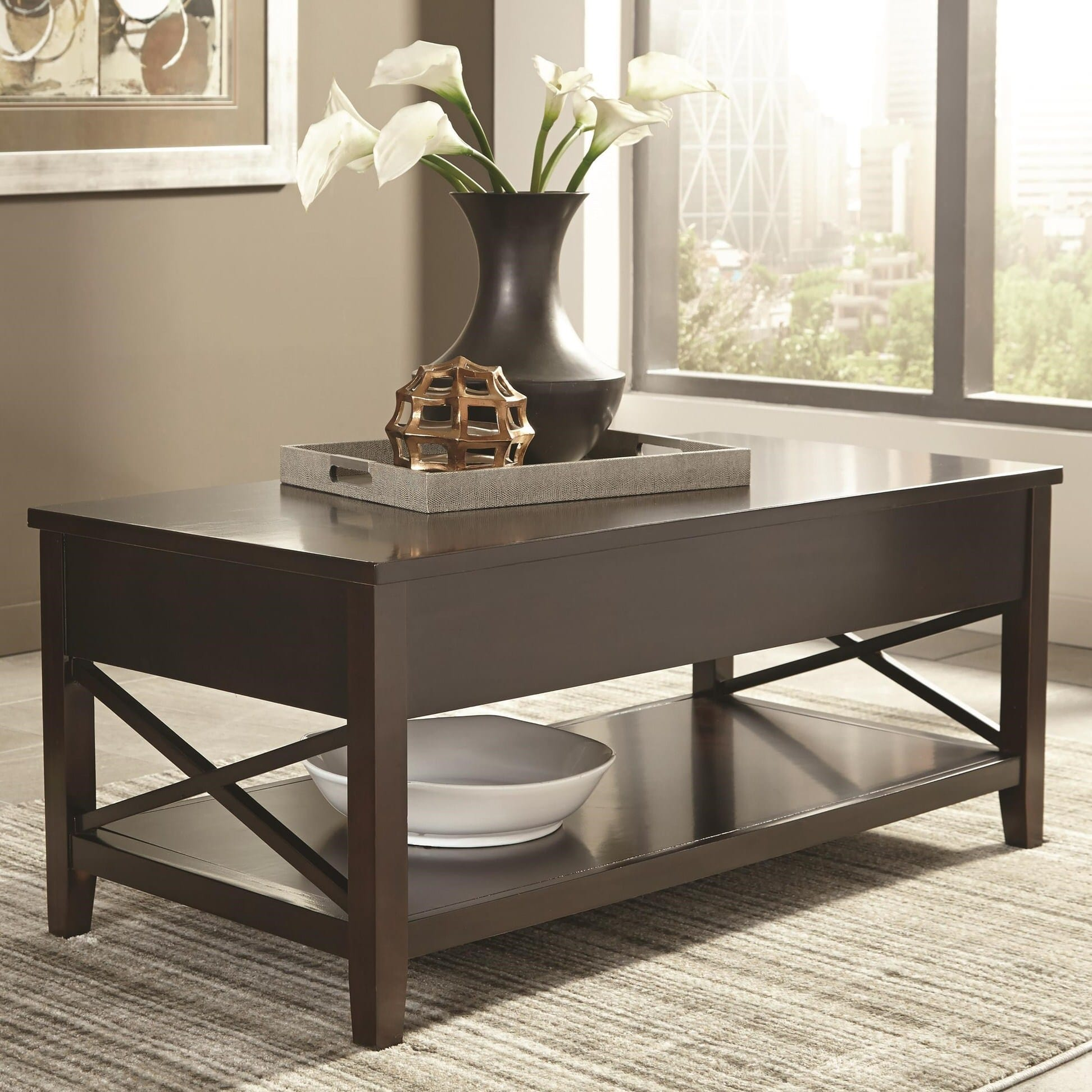 Expresso Coffee Table.705688 Transitional Espresso Coffee Table By Scott Living