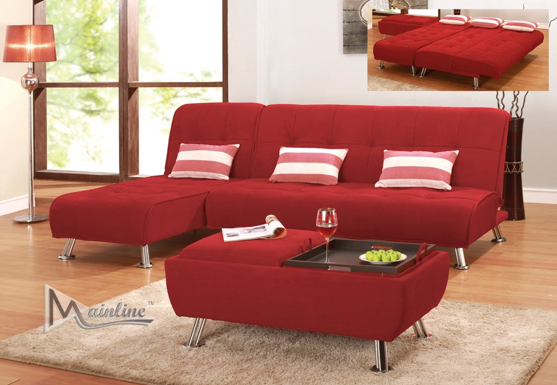 Latitude Sofa Bed Red By Mainline