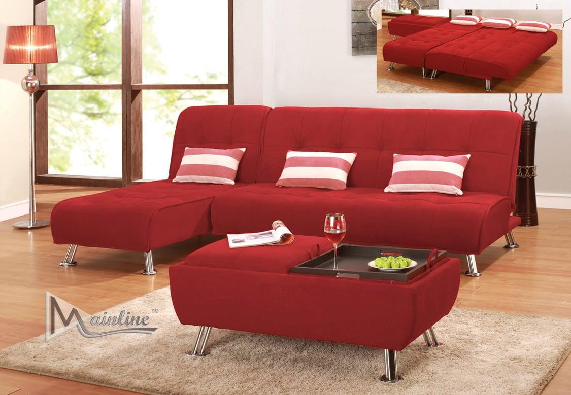 Futon sofa bed red - Futon Sofa Bed Red 55