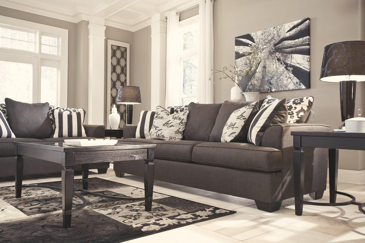 Levon Charcoal Sofa Signature Design By Ashley Furniture