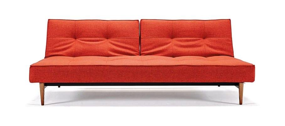 Splitback sofa bed mixed dance burned orange by innovation