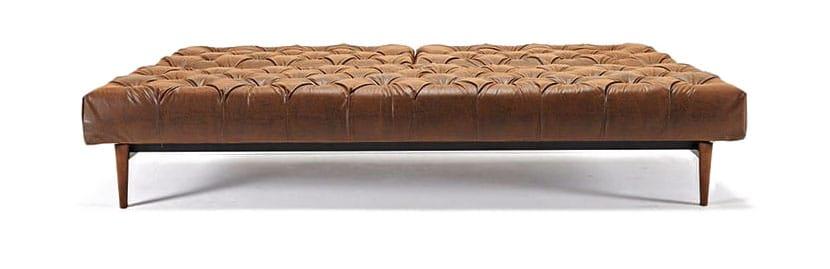 Oldschool Chesterfield Sofa Bed Vintage Black Brown