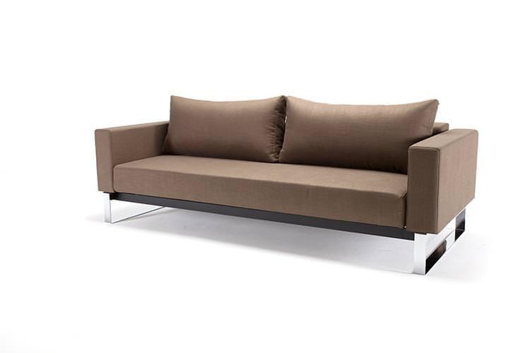 Cassius sleek sofa bed full size dark khaki by innovation for Sleek sofa bed