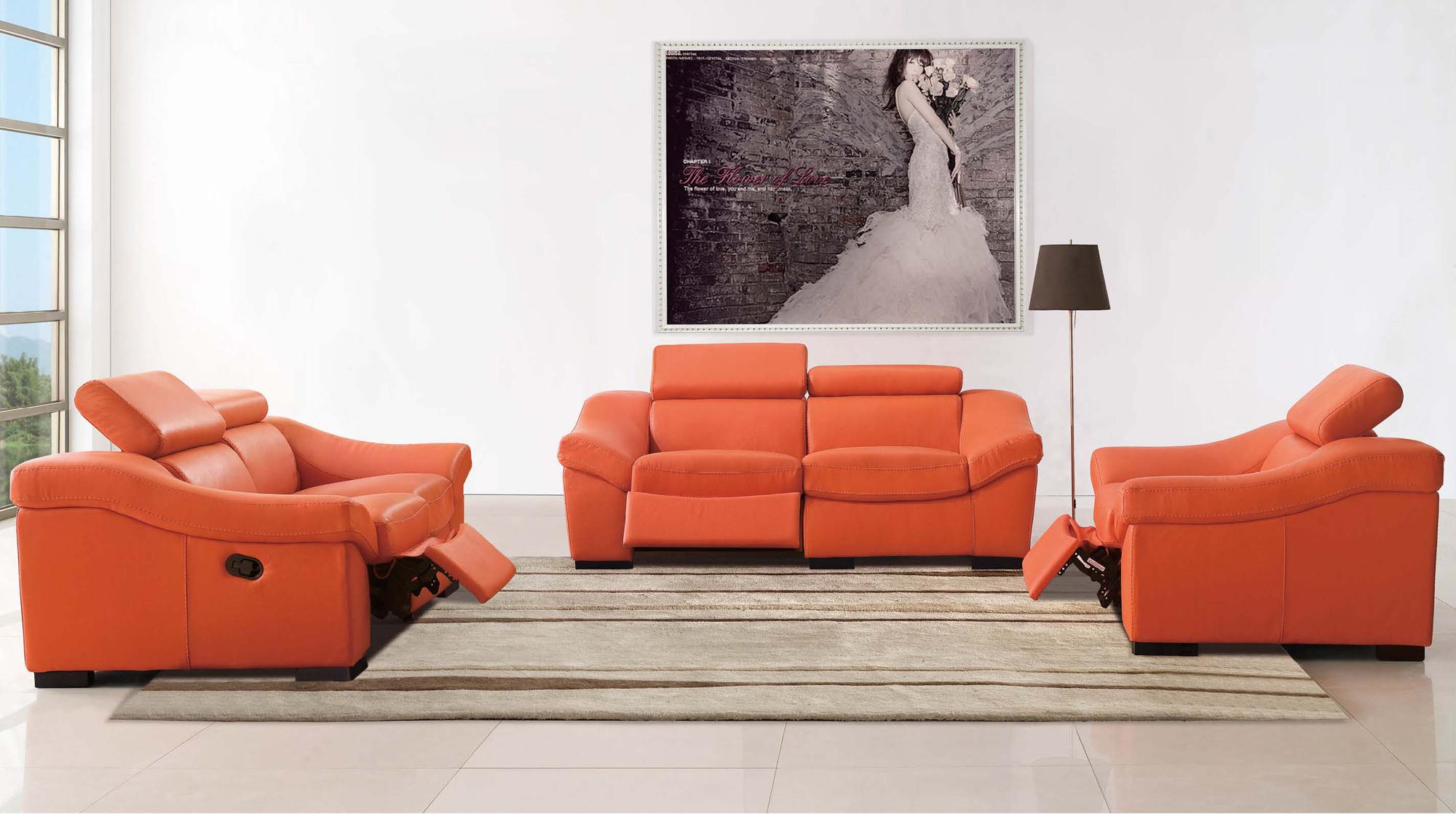 Pleasant 8021 Leather Split Loveseat With Recliner By Esf Uwap Interior Chair Design Uwaporg