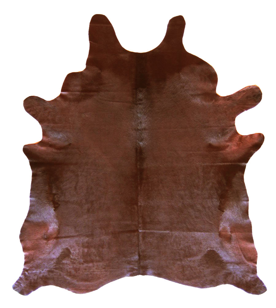 Solid chocolate cowhide for Cowhide rugs nyc