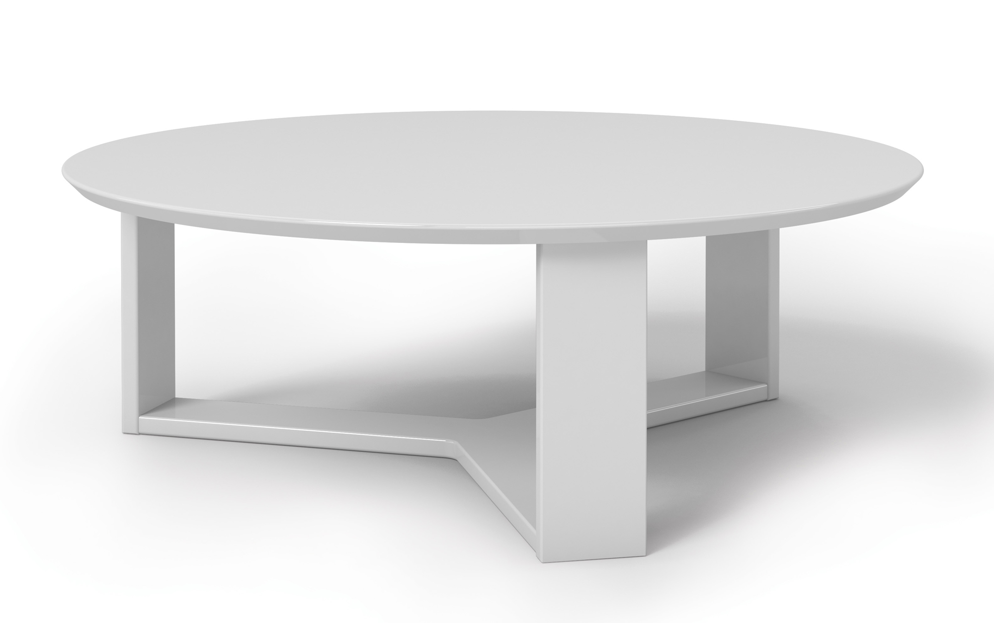 Madison 10 white gloss round accent coffee table by manhattan comfort geotapseo Image collections