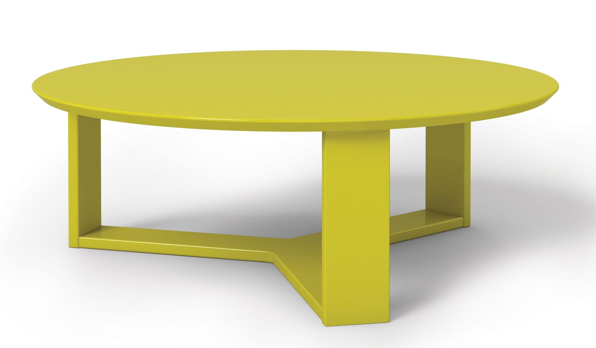Madison 1 0 Lime Gloss Round Accent Coffee Table By Manhattan Comfort