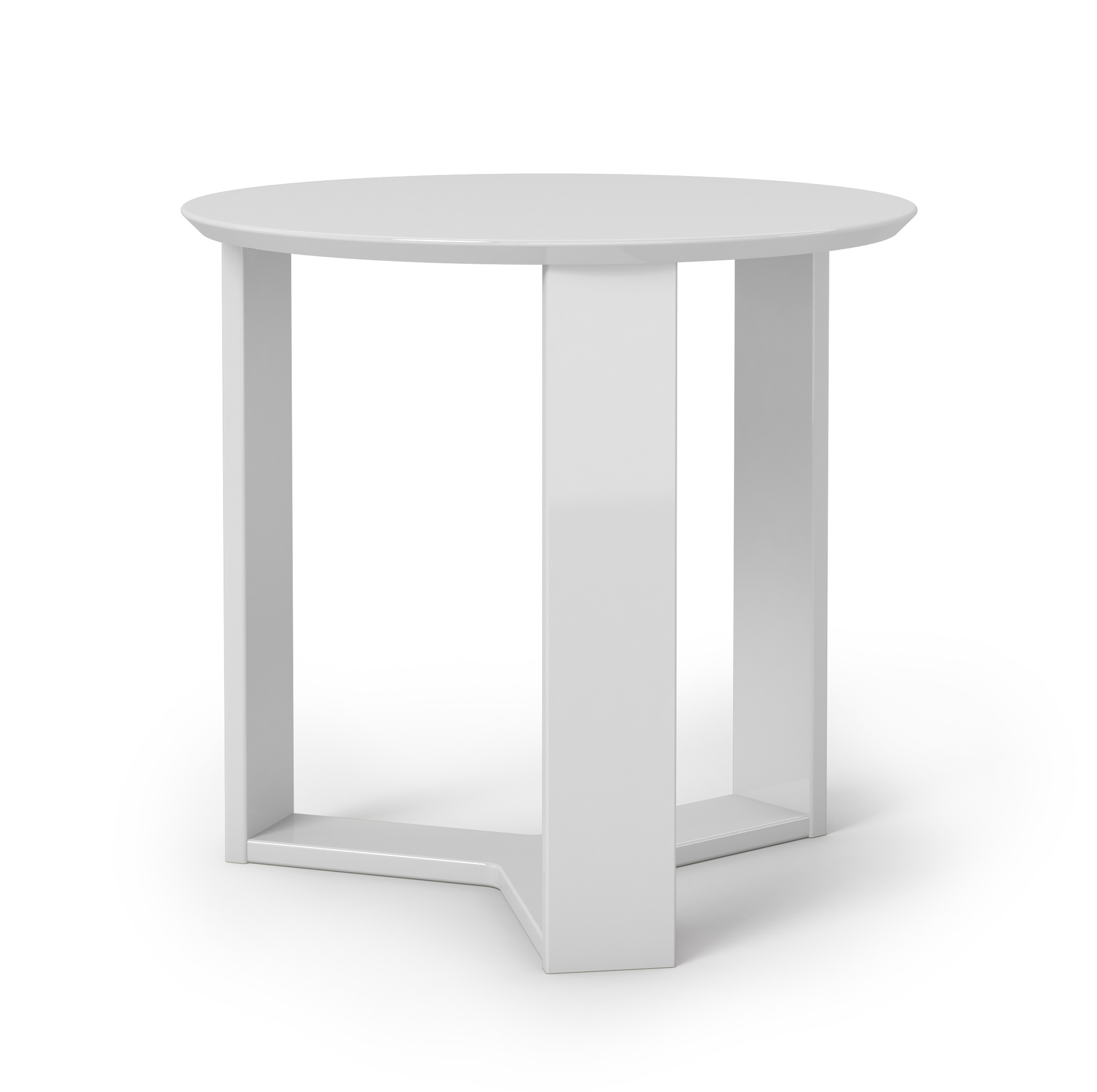Madison 2 0 white gloss round accent end table by for White end table