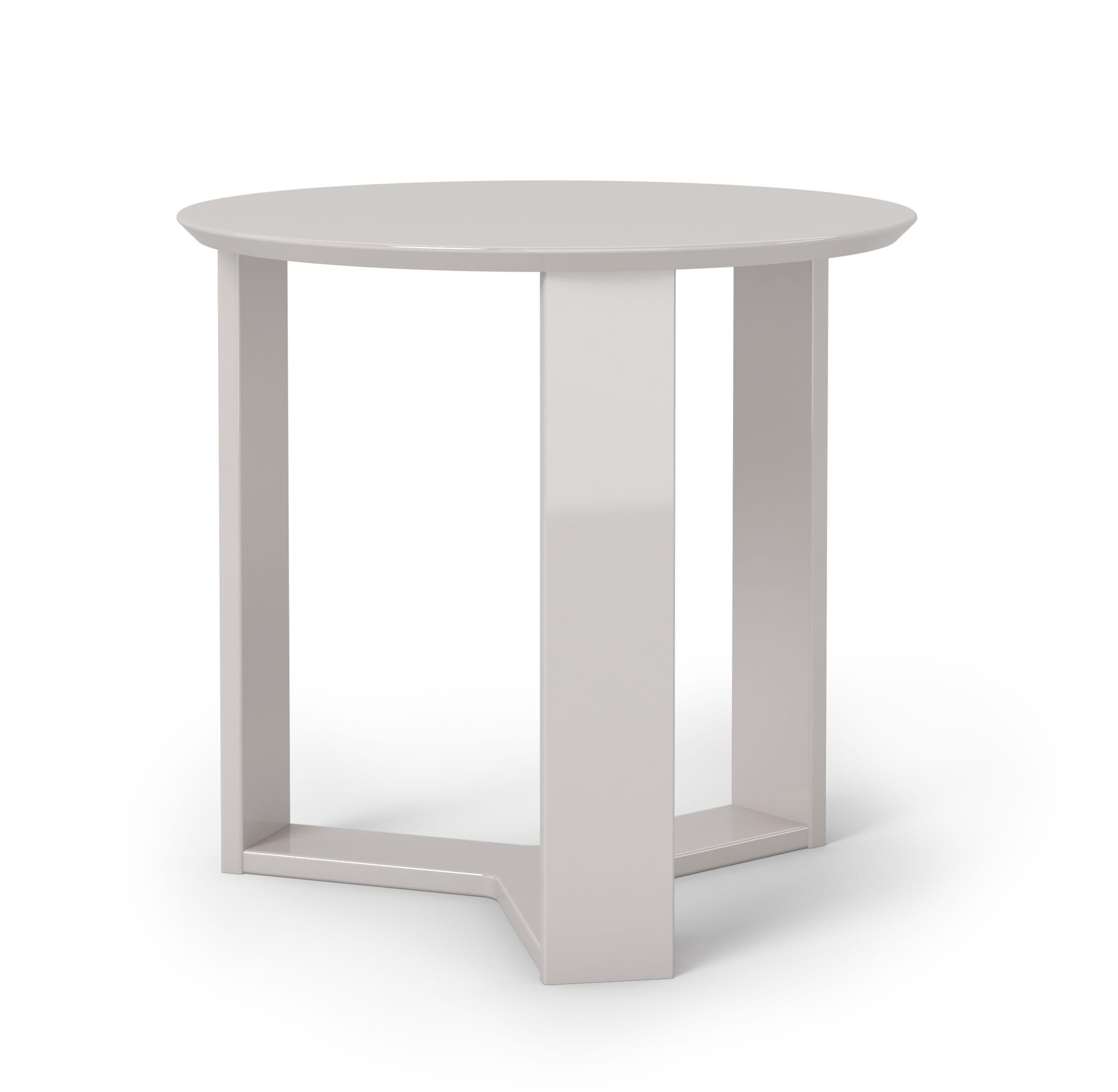 Madison 2 0 off white round accent end table by manhattan for Off white round table