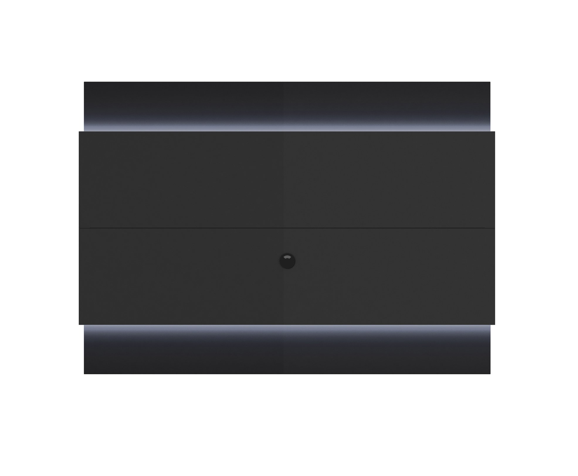 lincoln black gloss black matte floating wall tv panel 1 9 w led lights by manhattan comfort. Black Bedroom Furniture Sets. Home Design Ideas