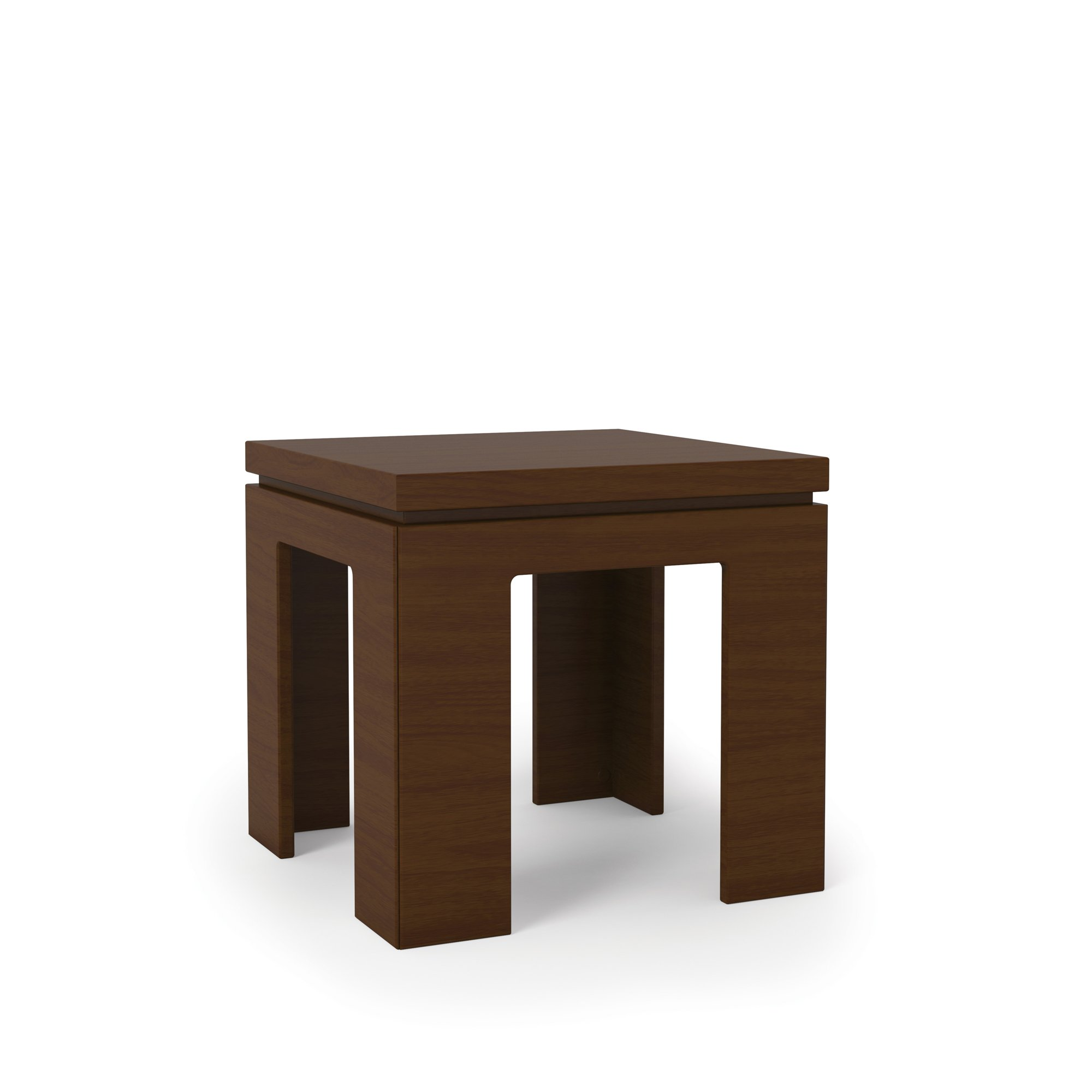 Bridge 1 0 nut brown modern accent end table by manhattan for Accent end tables