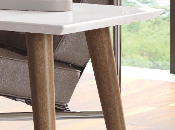 Utopia Off White U0026 Maple Cream 11.81 Inch High Rectangle Coffee Table W/ Splayed  Legs By Manhattan Comfort