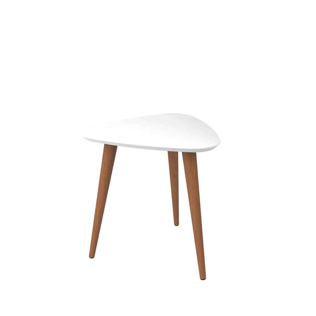Tremendous Utopia Off White Maple Cream 19 68 Inch High Triangle End Table W Splayed Wooden Legs By Manhattan Comfort Uwap Interior Chair Design Uwaporg