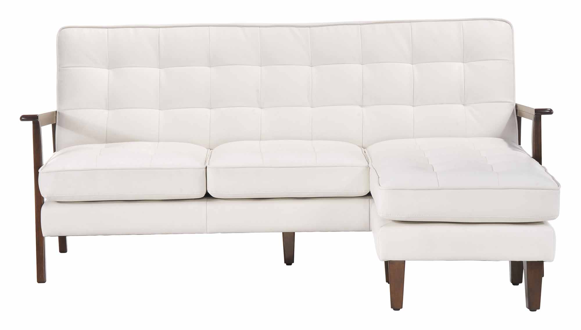 Soho Flat Flex Sectional White By Zuo Modern
