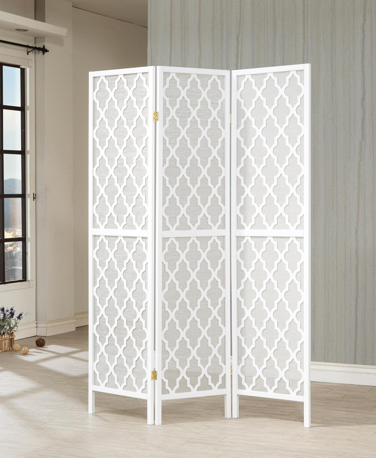 901908 3 Panel Room Divider By Coaster