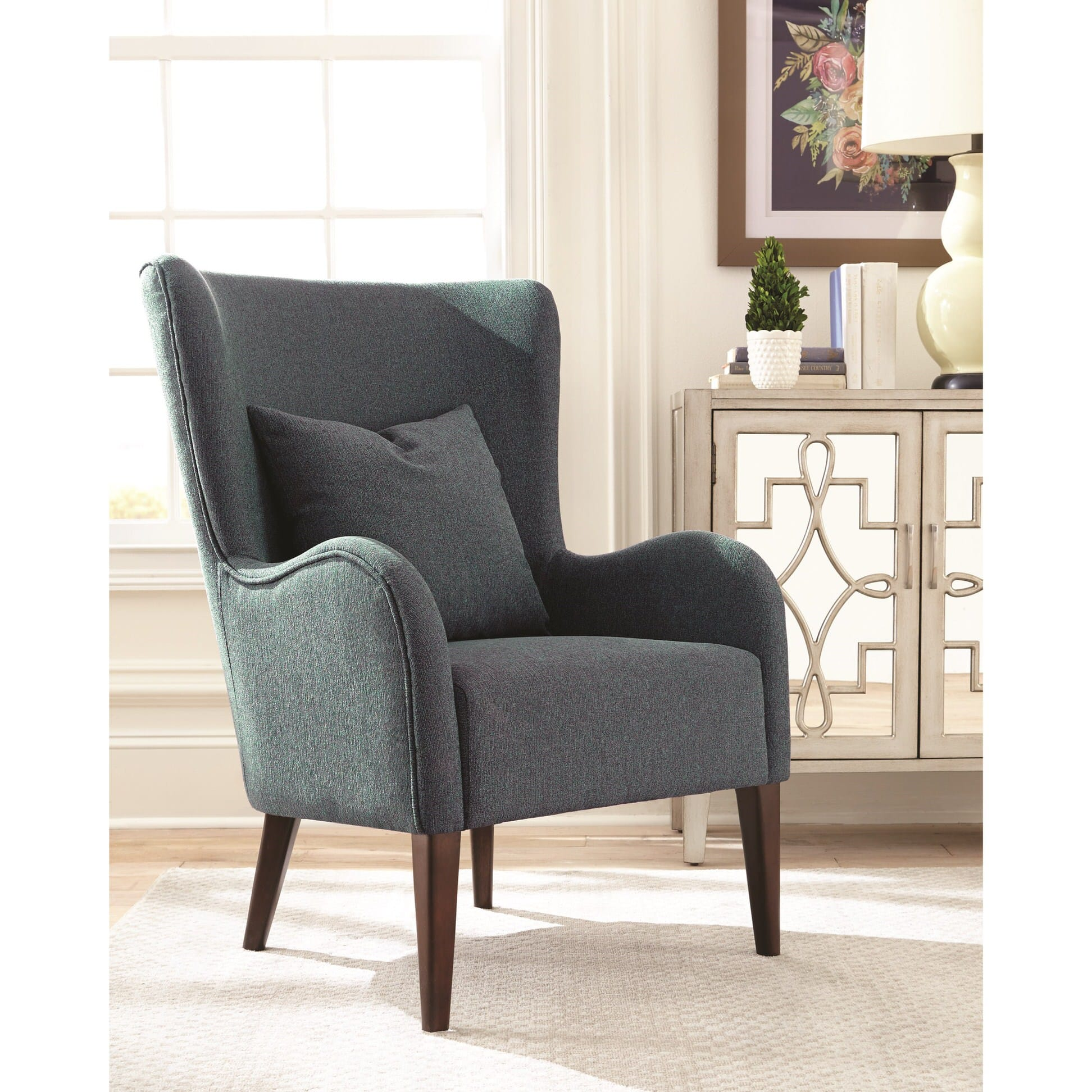 903370 Dark Teal Accent Chair By Scott Living