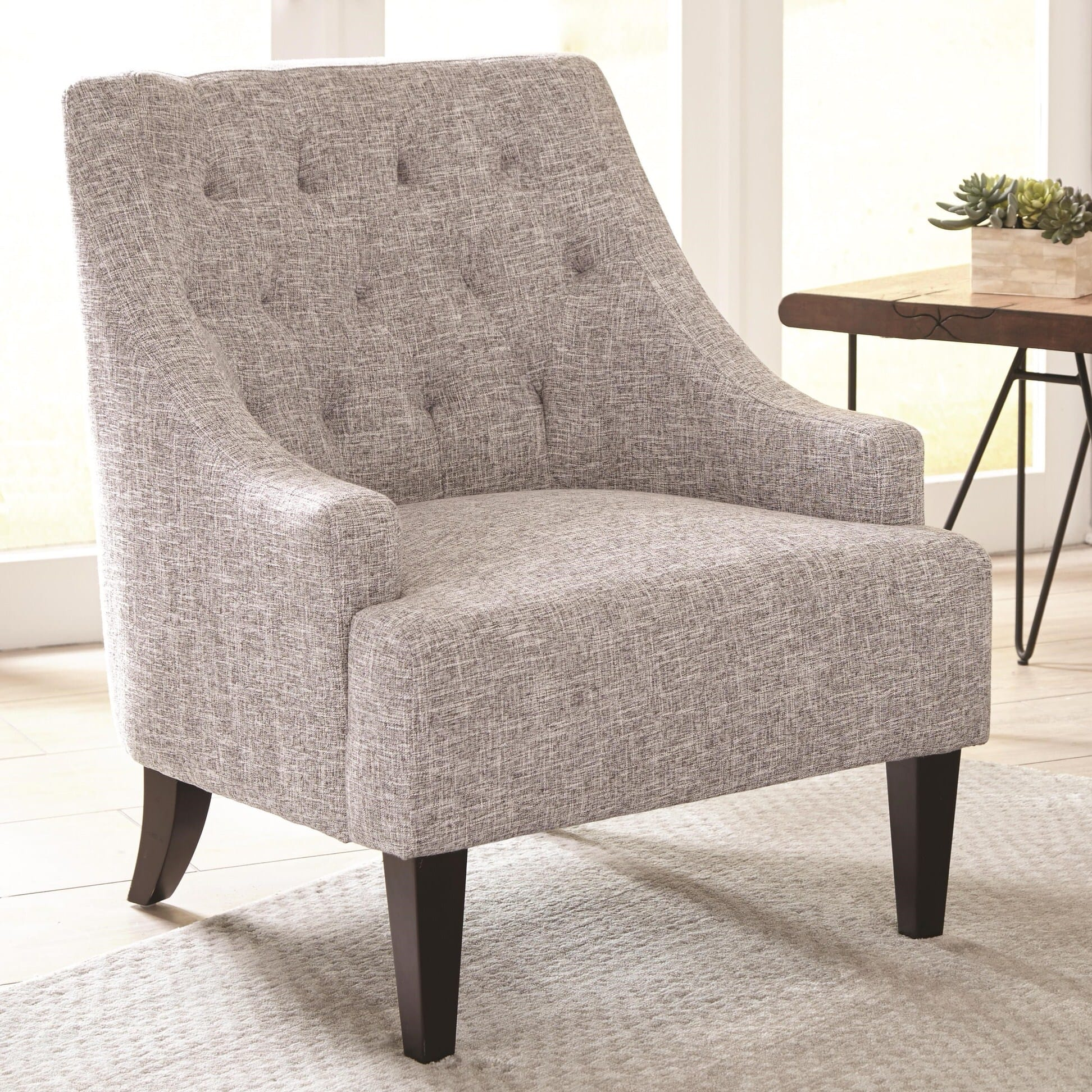 Fabulous 904068 Light Gray Accent Chair By Scott Living Andrewgaddart Wooden Chair Designs For Living Room Andrewgaddartcom