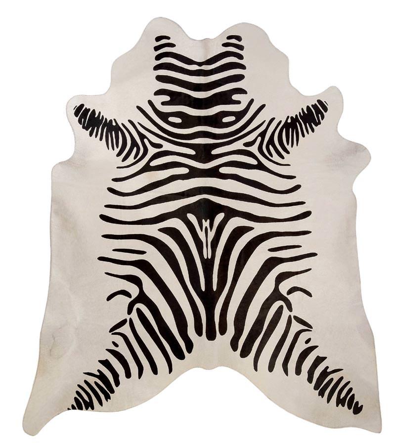 Zebra Black On Off White Cowhide