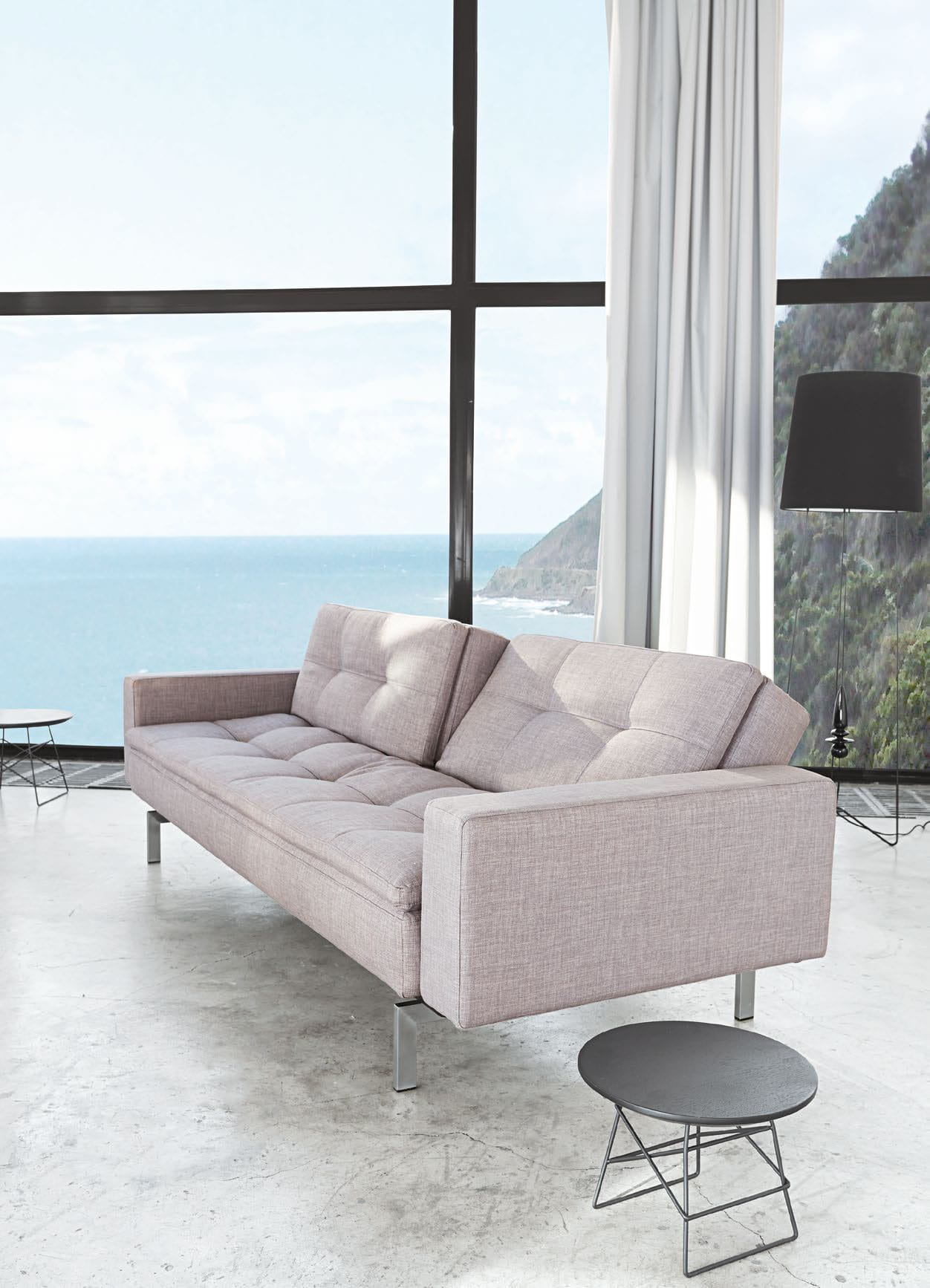 Dublexo Deluxe Sofa w Arms Mixed Dance Natural by Innovation