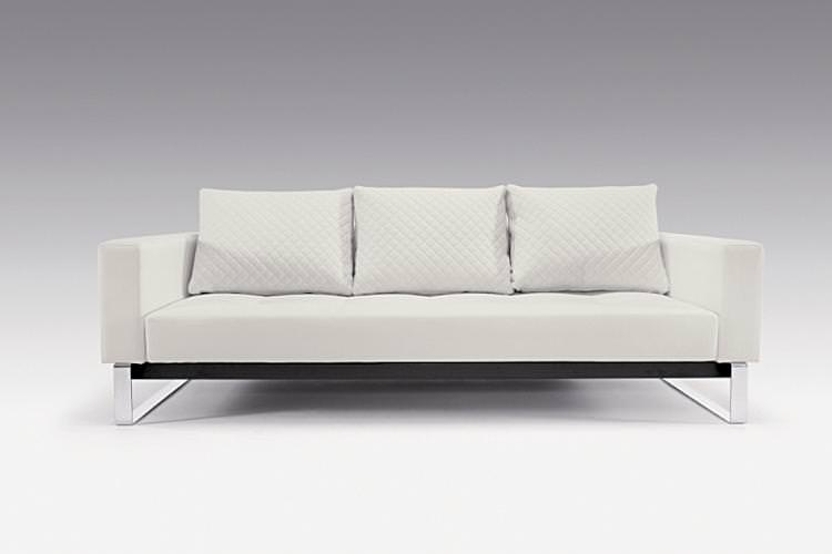 Admirable Cassius Deluxe Sofa Bed Full Size White Leather Textile By Innovation Pdpeps Interior Chair Design Pdpepsorg