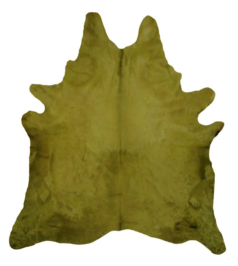 Solid amazon green cowhide for Cowhide rugs nyc