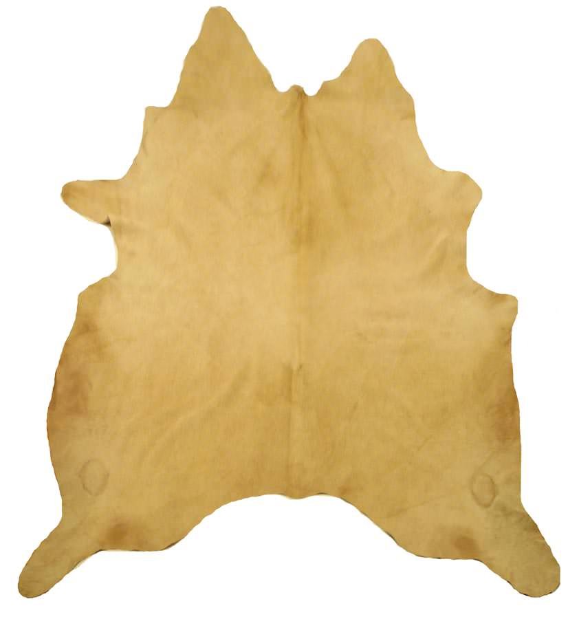 Solid palomino cowhide for Cowhide rugs nyc