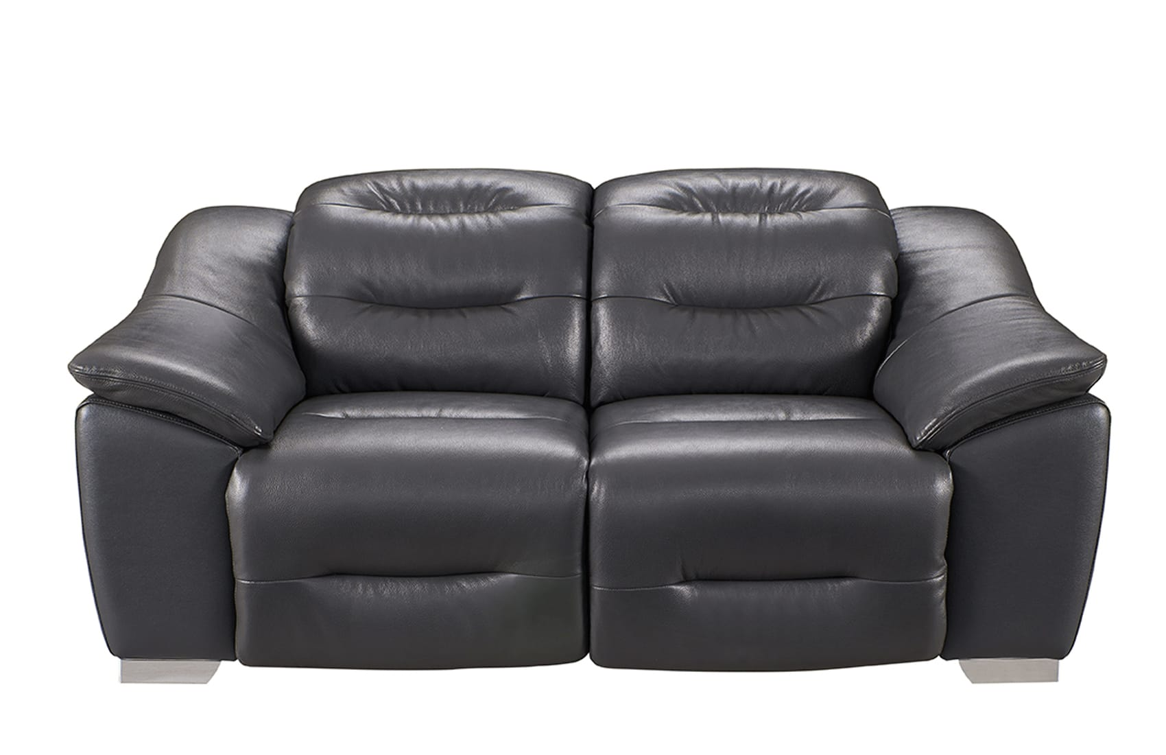 Groovy 972 Charcoal Leather Loveseat W 2 Electric Recliner By Esf Gmtry Best Dining Table And Chair Ideas Images Gmtryco