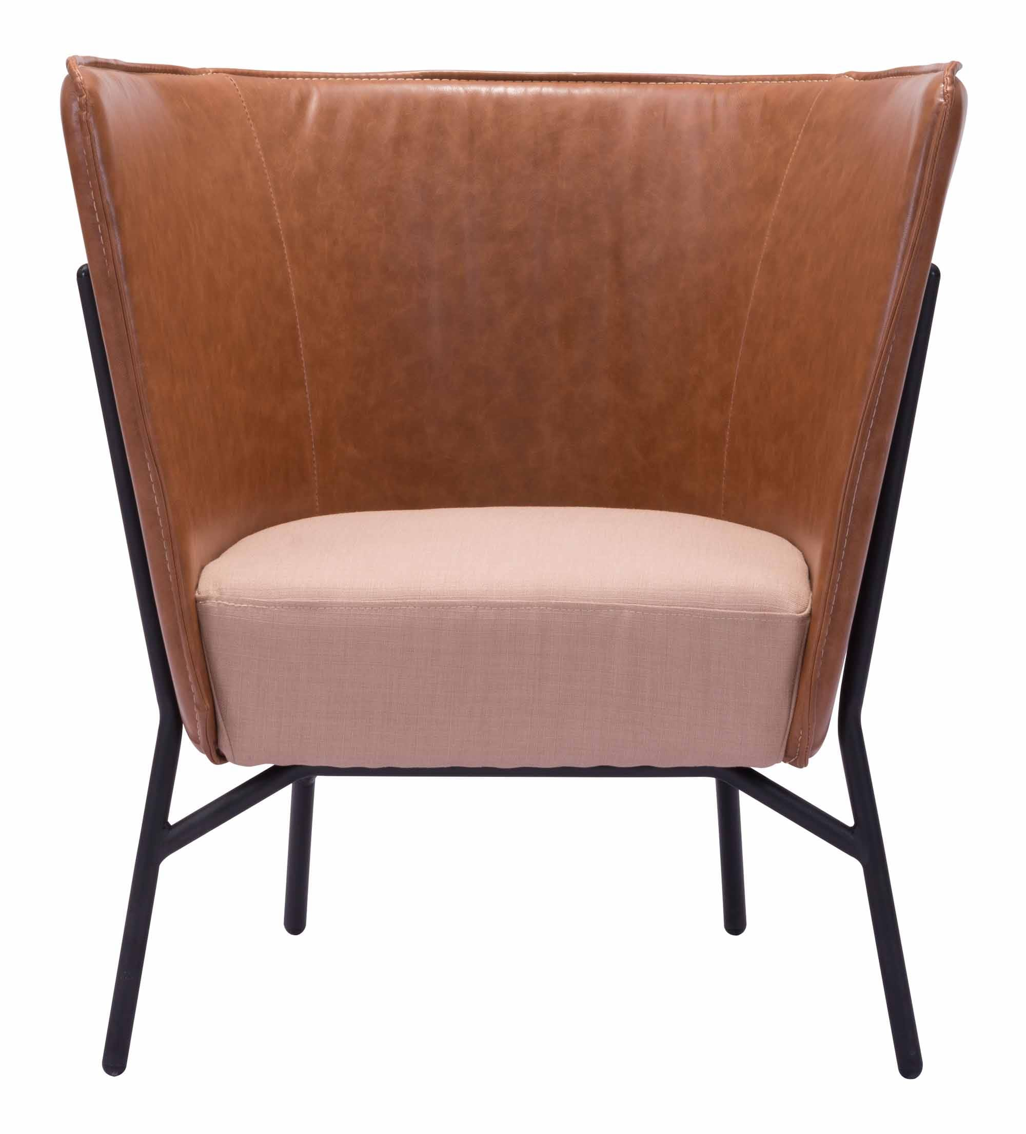 Assange Occasional Chair Coffee & Beige by Zuo Modern