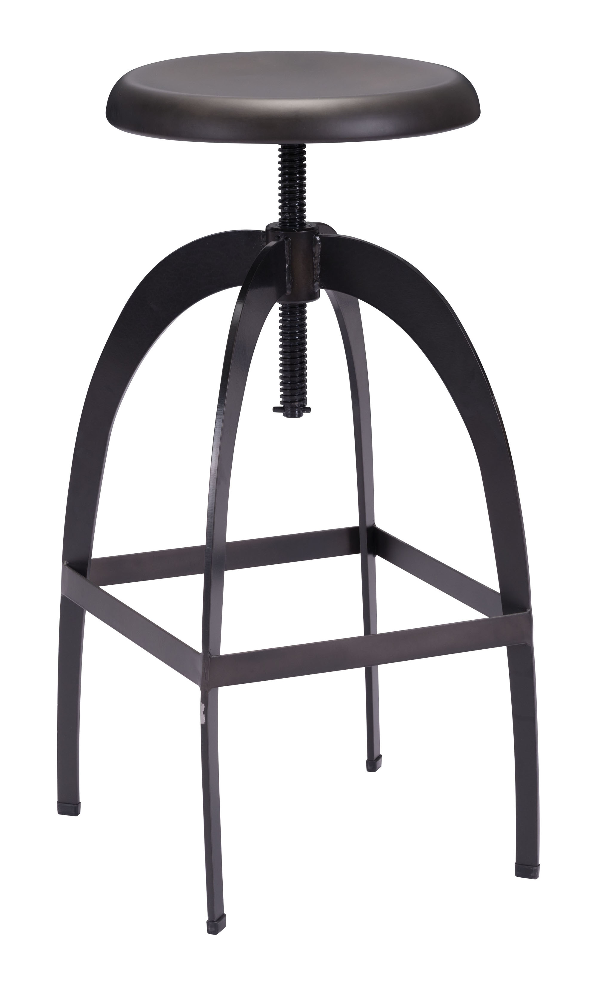 Aristotle Barstool Antique Black by Zuo Modern
