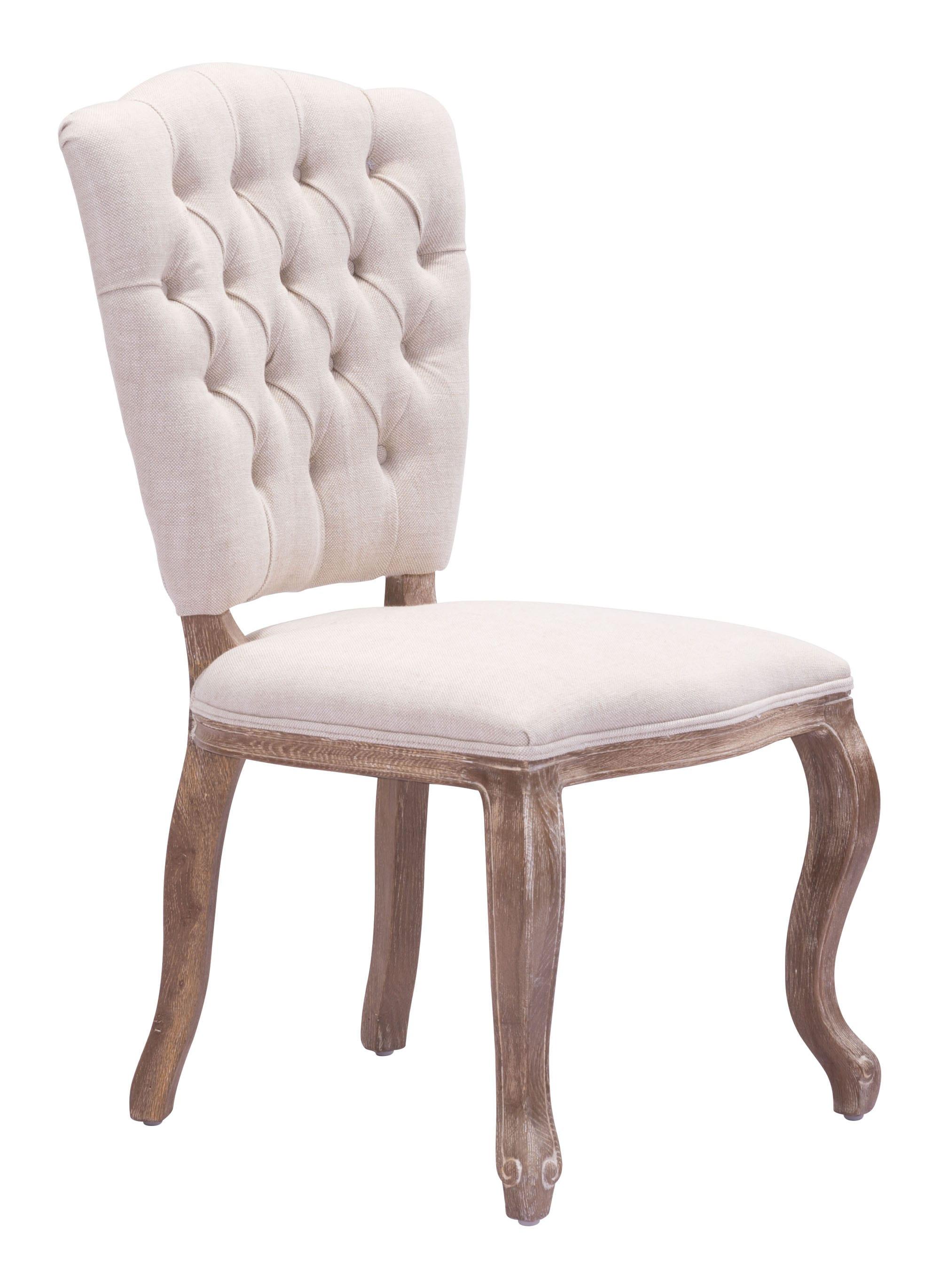 Eddy Dining Chair Beige Set Of 2 By Zuo Modern
