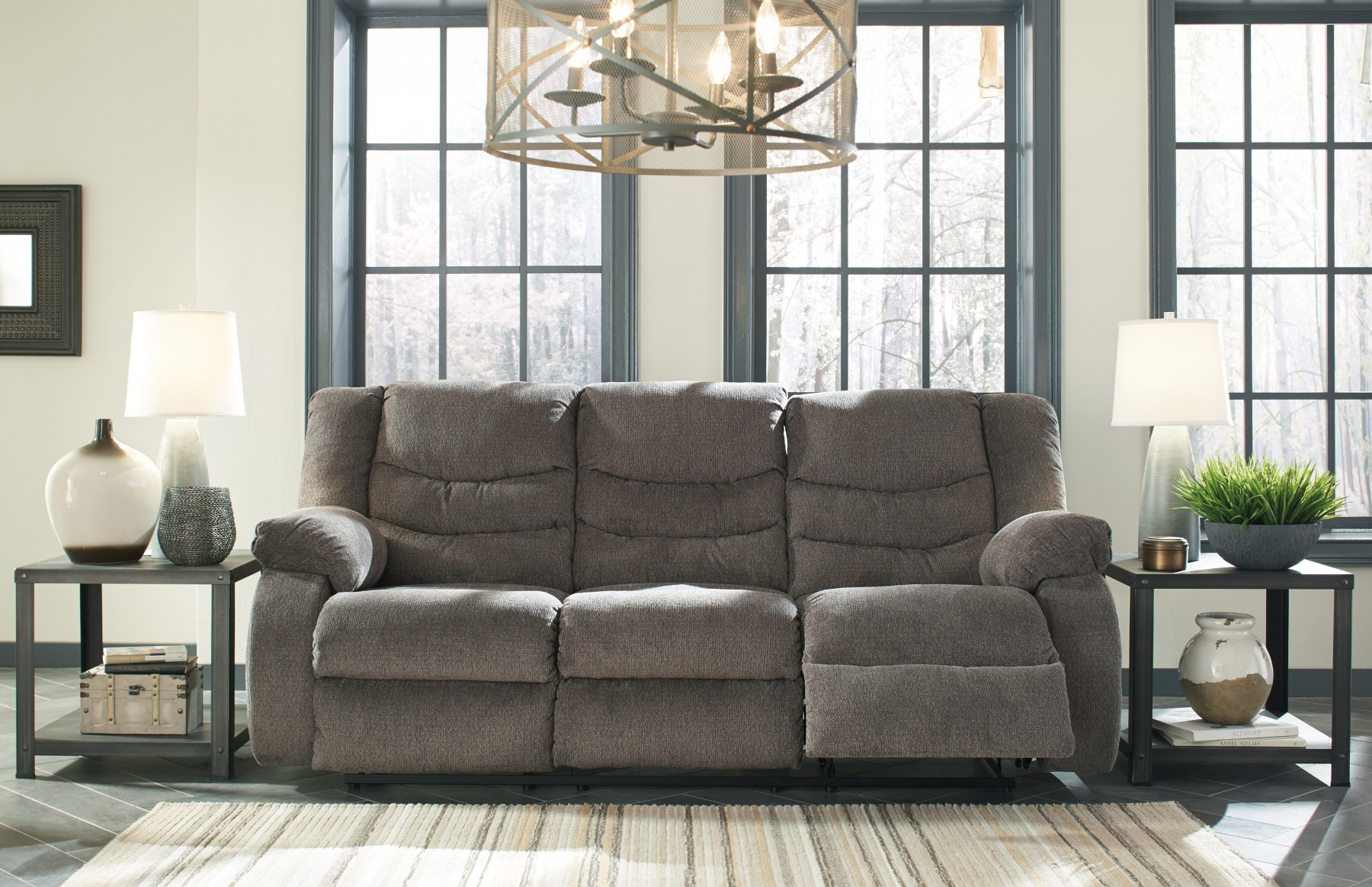 Tulen Gray Reclining Sofa by Ashley Furniture