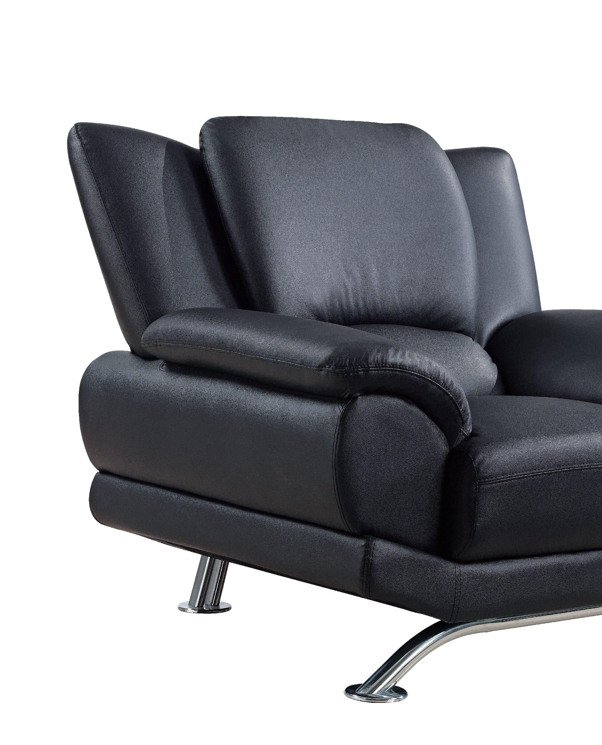 u9908 black bonded sofa by global furniture. Black Bedroom Furniture Sets. Home Design Ideas