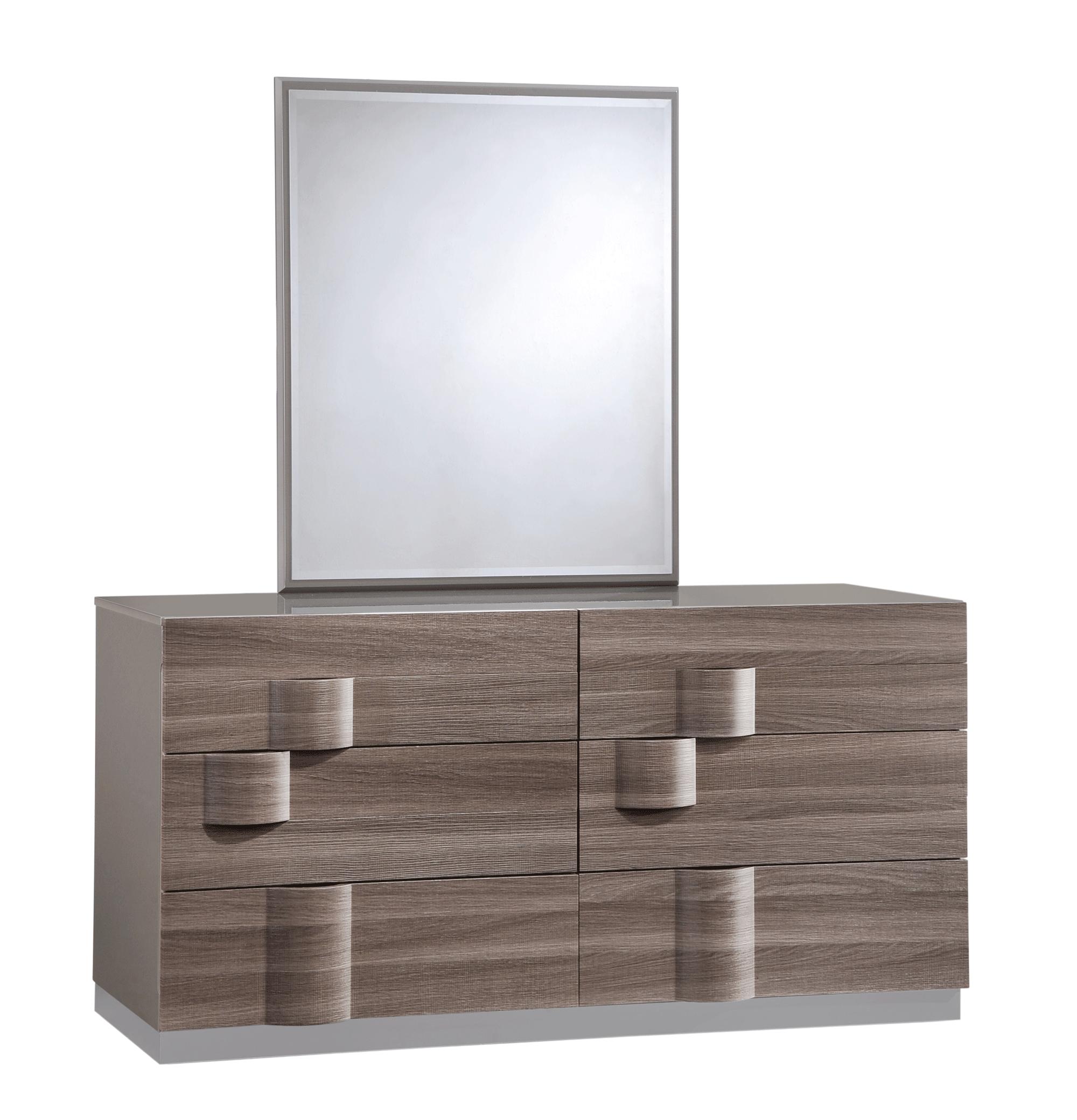 Global Bedroom Furniture Adel Grey Glossy Zebra Wood Bedroom Set By Global Furniture